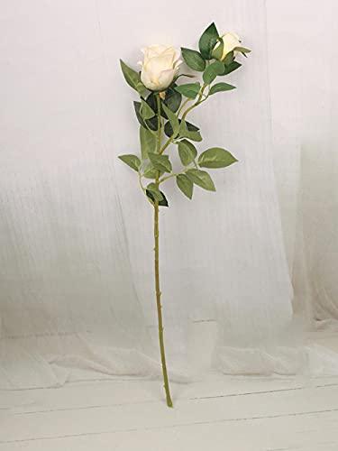 Sonze Flores de simulación de Rosas, Flores Falsas en el idílico-Champagne_13PCS,Flores Artificiales Decoración,decoración para el hogar, jardín