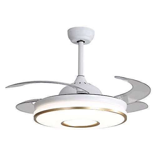LLYU Luces de ventilador de techo - Ventiladores de techo Aspa de ventilador de metal para comedor Dormitorio Sala de estar Cocina y restaurante con kit de luces y control remoto (Color : Gold)