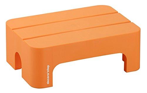 サンカ デコラステップショート Sサイズ オレンジ 幅395×奥行280×高さ140mm DS-SSOR