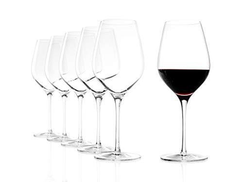Stölzle Lausitz Rotweingläser Exquisit Royal Bordeaux 645ml I Rotweingläser 6er Set I Weingläser spülmaschinenfest I Rotwein Kelche bruchsicher I hochwertiges Kristallglas I höchste Qualität
