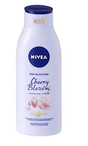 6 x NIVEA Körperöl in Lotion - Cherry Blossom - befeuchtet die Haut intensiv bis zu 24 Stunden - 400 ml