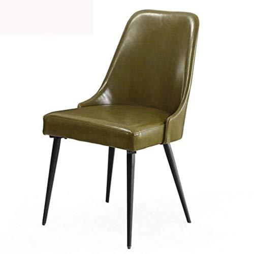 YLSP Nordic Eisen Eisenstuhl Zu Hause Bürostuhl Gemütliche Café Tische Und Stühle Einzel Stühle Mit Lederbezug Zu Diskutieren (Color : -, Size : -)