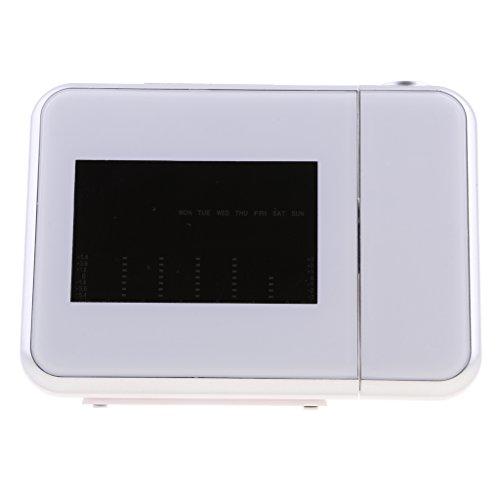 MagiDeal Proyector de Tiempo Digital Portátil Proyección de Pared de Humedad de Temperatura Meteorológica LED