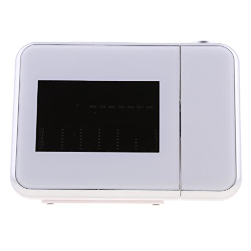 Funk Projektionswecker (mit Thermometer, Kalender, Wecker, Projektor um 180 Grad drehbar)