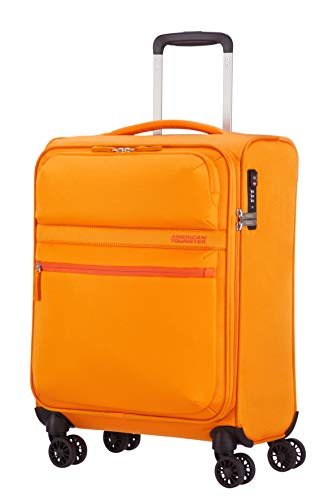 American Tourister Matchup Bagaglio a mano Spinner S (55cm-42L), Giallo (Popcorn Yellow)