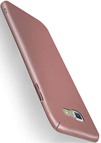 MoEx® Backcover [Ultra-Slim Design] passend für Samsung Galaxy A5 (2017) | Stabile Hartschale mit optimalem Stoß- und Kratzschutz - Matt Metallic Rosé-Gold