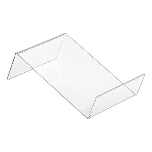 DIN A6 Buchstütze Flach aus Acrylglas - Zeigis® / Buchständer/Warenstütze/Warenträger/Warenpräsentation/Produktpräsentation