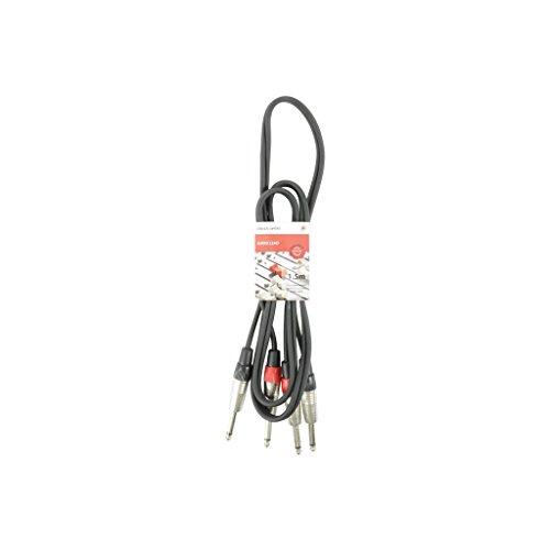chord 2M6J-J150 - Cable de conexión mono (1,5 m, 2 x 6,3...