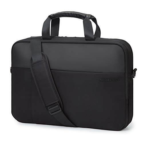 Laptop Bag,LIGHT FLIGHT 15.6 Inch Expandable Briefcase for Men Women,Slim Laptop Bag for Computer,Water Resistant Business Bag,Black