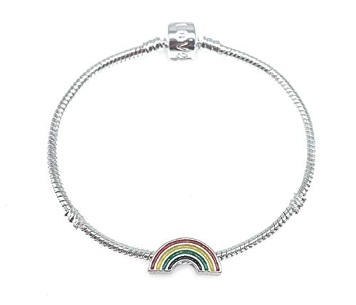 Rainbow Charm Bracelet for Ladies and Girls with Gift Box (21)