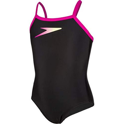 "Speedo Boom Placement Muscleback Swimsuit Teen Black/Pink/Zest 32"""
