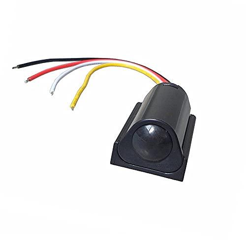 Interruptor del sensor del cuerpo humano, 5A DC 6V-24V sensor de movimiento interruptor 3M-5M para las luces del armario luces de la escalera