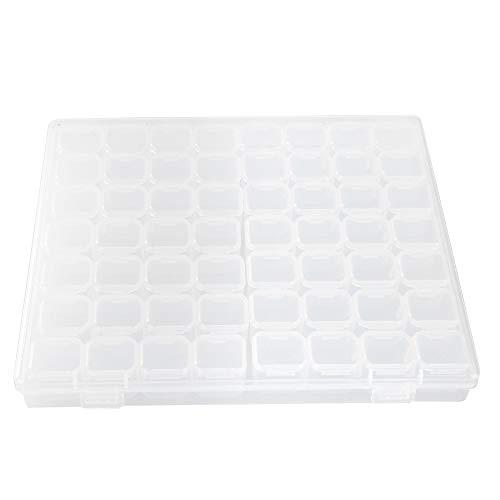 56 Slots Nail Art Organizer Box En Plastique Transparent Organisateur De Stockage Boîte pour Maquillage Boucles D'oreilles Collier Perle Anneau