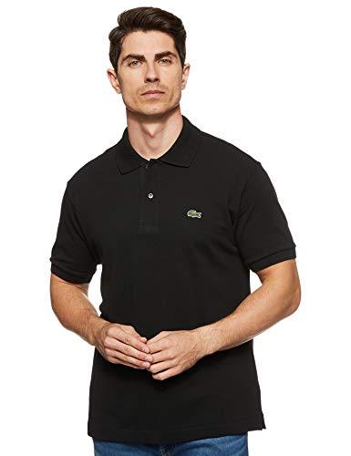Lacoste Men's Short Sleeve L.12.12 Pique Polo Shirt, Black, M