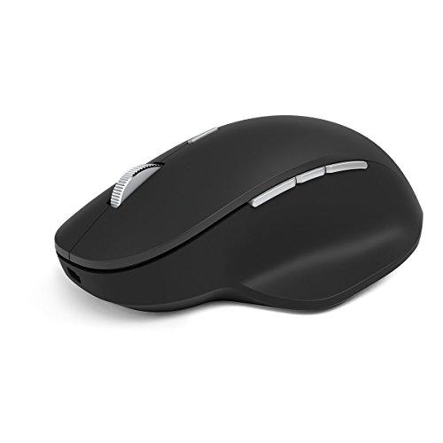 Microsoft Precision Maus, Flüssiges Scrollen, drei programmierbare Tasten, ergonomisches Design, Schwarz
