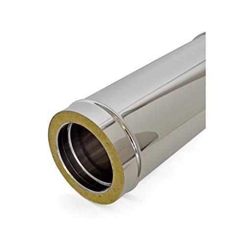 Tubo de doble pared de acero inoxidable para chimeneas L 1000 mm