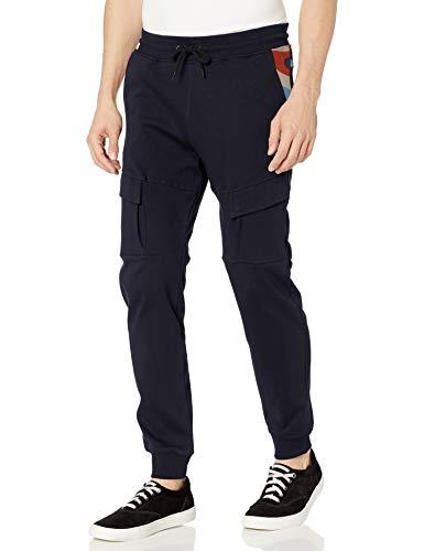Southpole Men's Utility Fashion Fleece Jogger Pants, Navy Body, Medium