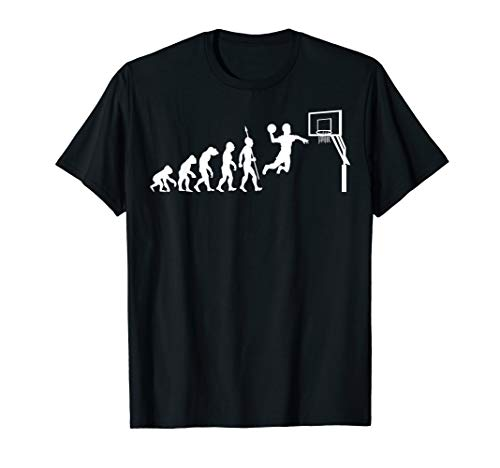 Cool Lustig Basketballer Basketball Evolution Fun T-Shirt
