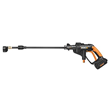 Worx Cordless Hydroshot Portable Power Cleaner, 20V Li-ion (2.0Ah), 320psi, 20V Power Share Platform WG629