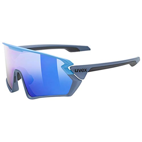uvex Sportstyle 231 Gafas de Deporte, Adultos Unisex, Blue Grey Mat/Mirror Blue, One Size