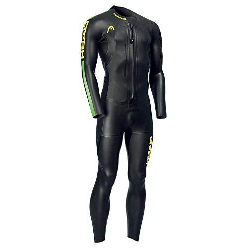 Head Swimrun Race Wetsuit 6.4.2 Man Traje Neopreno, Hombre, Black Brasil, 46