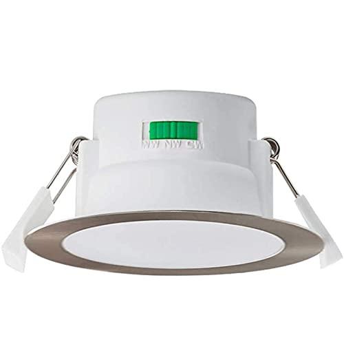 Kit de Luces empotradas LED 70 mm Recorte Regulable Luces de Techo empotradas Lámparas de Techo 900lm con CCT Ajustable 3000K / 4000K / 5700K Cálido (Color : White, Size : 1 Pieces)