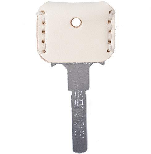 [FREESE] キーカバー 本革 キーケース 【味わい深い皮生地】 キーキャップ アンティーク レザー 鍵 収納 ケース メンズ(ホワイト)