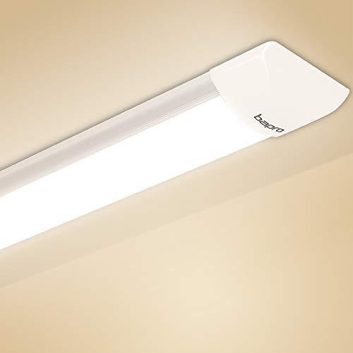 60CM Plafoniera LED, 20W Neon Led Ultraslim Plafoniere da ufficio, Tubo a LED Bianco Neutro 4000K Moderno Pannello Impermeabili Prova Umidità Lampada da Soffitto Seminterrato Garage Officina