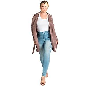Plus Size Women's Light Wash Distressed Ankle Premium Jeans
