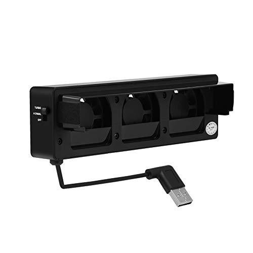 Muelle del Soporte De La Base del Ventilador De Enfriamiento USB, Enfriador De Soporte De Enfriamiento del Ventilador De Enfriamiento Eficaz Portátil para NS