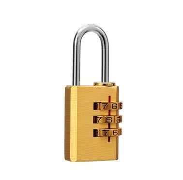 Republe 3 Digit Combination Password Coded Lock Copper Cupboard Cabinet Locker Theftproof Padlock