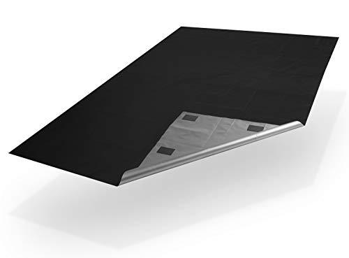 Xcelenze - Fenster Verdunkelung in 1 Minute angebracht | 2m x 1,45m schwarz | Reise Verdunklungsrollo mit Mikro Saugnapf und endlosem Halt | Verdunkelungsrollo Verdunkelungsfolie Verdunklungsstoff (1)