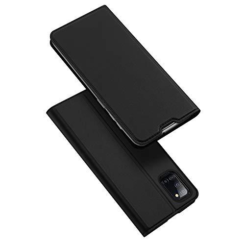 DUX DUCIS Hülle für Samsung Galaxy A31, Leder Klappbar Handyhülle Schutzhülle Tasche Hülle mit [Kartenfach] [Standfunktion] [Magnetisch] für Samsung Galaxy A31 (Schwarz)