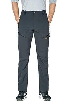 Nonwe Men's Warmth Water-Resistant Windproof Mountain Fleece Lined Hiking Sweat Pants Gray M/30 Inseam