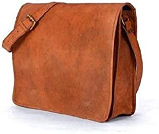 "TUZECH Pure Rustic Leather Genuine Leather Bag Cross-Body Messenger Bag (Fits Laptop up to 13"")"