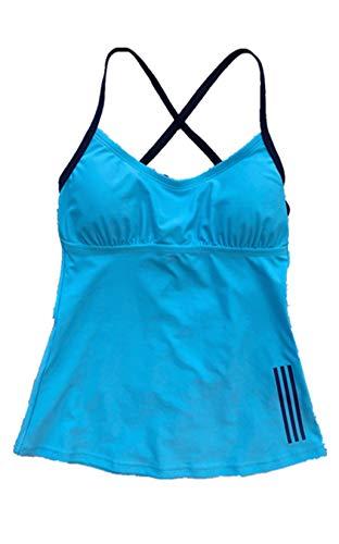 adidas Damen Core Tankini - Blau - Large