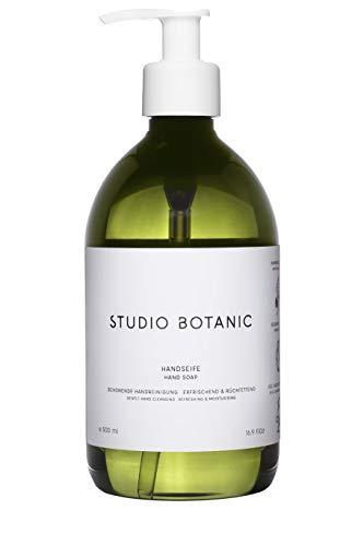 Studio Botanic Handseife – Schonende Handreinigung – 500 ml PET-Flasche – 100% Rein Natürlich – Zertifizierte Vegane Naturkosmetik