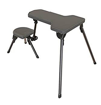 Caldwell Stable Table Lite Ambidextrous Fully Collapsible Rotating All-Weather Shooting Rest for Outdoor Range Shooting and Cleaning
