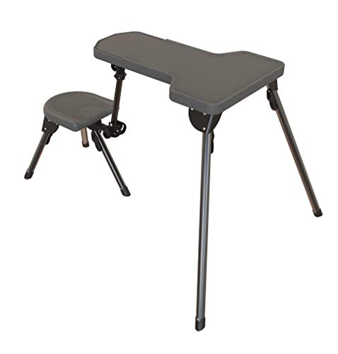 Caldwell Stable Table Lite Ambidextrous Fully Collapsible Rotating All-Weather Shooting Rest for Outdoor, Range, Shooting and Cleaning