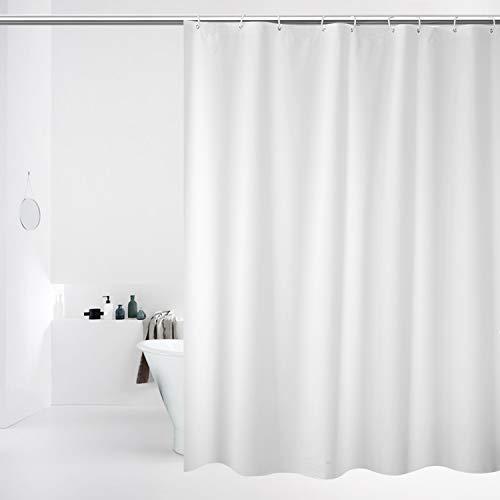 Tenda da doccia o fodera, 100% impermeabile, con occhielli antiruggine, impermeabile, 180 x 180 cm, tenda decorativa da bagno lavabile in lavatrice, qualità hotel (bianco)