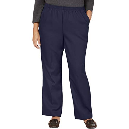 Karen Scott Womens Plus Comfy Pull On Pants Navy 3X