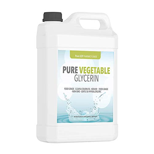 Vegetable Glycerin (Half Gallon) Food & USP Grade, Vegan, Hypoallergenic Moisturizer