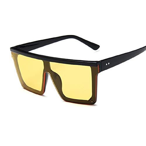 Astemdhj Gafas de Sol Sunglasses Gafas De Sol Cuadradas De Gran Tamaño para Mujer, Nueva Marca De Moda, Diseñador para Mujer, Gafas De Montura Grande Vintage para Exteriores, Uv40Anti-UV