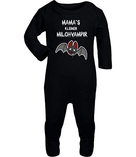 Shirtgeil Halloween Baby Kostüm Body Mamas Milchvampir Baby Strampler Strampelanzug 3-6 Monate (62/68) Schwarz