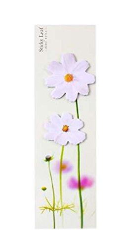 10 piezas de creativo blanco lindo crisantemo forma Sticky Notes/Scratch Pad