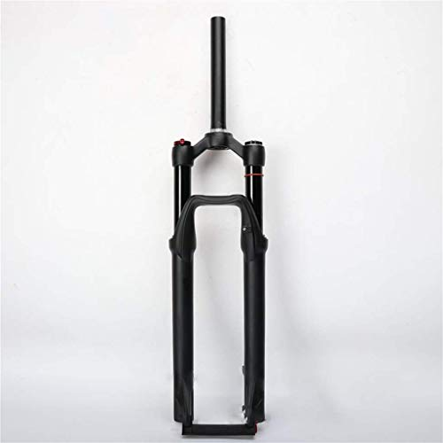 SEESEE.U Bicycle Fork 27.5 Inch Mtb Bicycle Aluminum Magnesium Alloy Suspension Fork, Double Air Chamber Fork Bicycle Shock Absorber Front Fork Air Fork 120Mm Travel