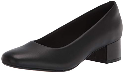 Clarks Women's Marilyn Leah Pump, Black Leather, 5.5