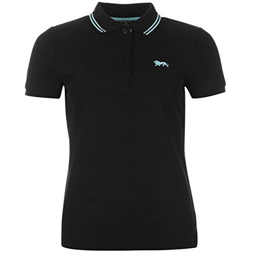 Lonsdale Lion Damen Polo Poloshirt T Shirt Kurzarm Tee Top 4 Knoepfe Kragen 12 (M)