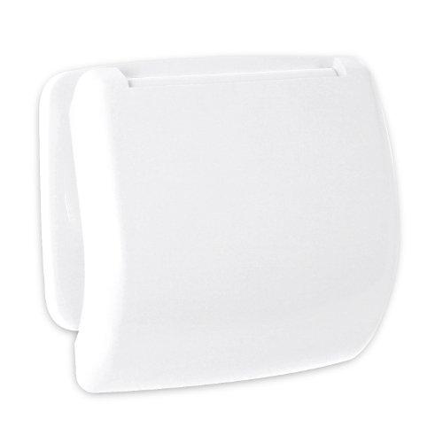 TATAY 6630101- Olympia Portarrollos de papel higiénico, Plástico Polipropileno, Blanco, 15.70x4.30x13.20 cm