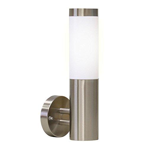 Edelstahl Aussenlampe Aussenleuchte Wandlampe Wandleuchte Fackel E27 #10WB